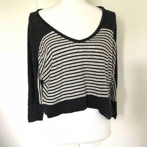 Joie striped navy slouchy dolman sleeve shirt sz S